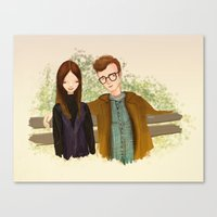 annie hall Canvas Prints featuring Annie Hall by Renia