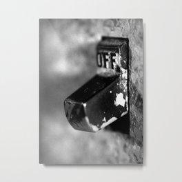 Off Metal Print