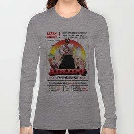Aikido Retro Movie Poster  Long Sleeve T-shirt