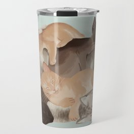 Big Ol' Pile of Cats Travel Mug