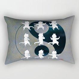 Tai Chi Cat Moves #1 Rectangular Pillow