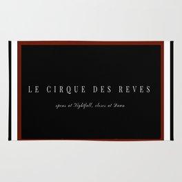 Night Circus Invitation Rug