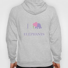 I Heart Elephants Hoody