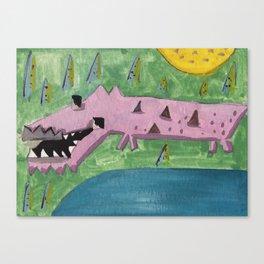 Squareland -squocodrile Canvas Print