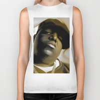 biggie smalls Biker Tanks featuring The Notorious B.I.G (Biggie Smalls) by darylrbailey