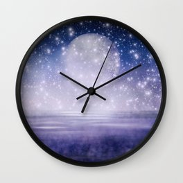 Moonlit Ocean Wall Clock