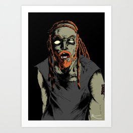 Pickles the Drummer Art Print