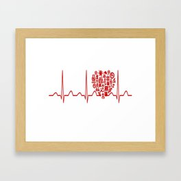 Chemistry Teacher Heartbeat Framed Art Print