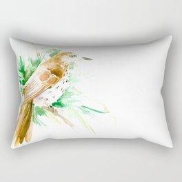 Brown Thrasher Rectangular Pillow