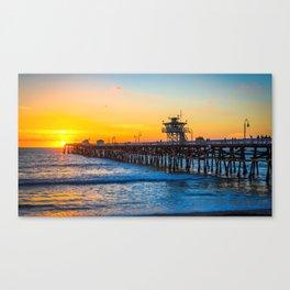 San Clemente Pier California United States Ultra HD Canvas Print