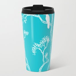 Crow in a tree turquoise Travel Mug