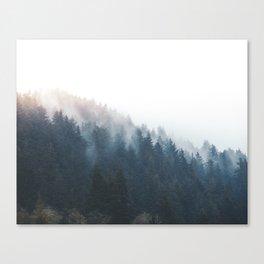 Misty Tillamook Woods Canvas Print