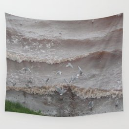Evening Seaguls Wall Tapestry