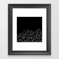 Ab Peaks Framed Art Print