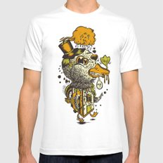A Disorientated Duck Goes For A Stroll White Mens Fitted Tee MEDIUM