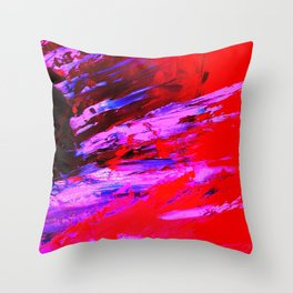 Abstract Shrapnell II by Robert S. Lee Throw Pillow