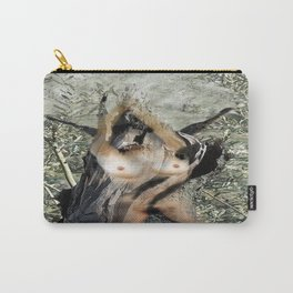 Nude in tree trunk Carry-All Pouch