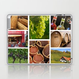 Wine and Vineyard Collage - Cafe or Kitchen Decor Laptop & iPad Skin