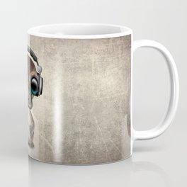 Cute Baby Platypus Deejay Wearing Headphones Coffee Mug