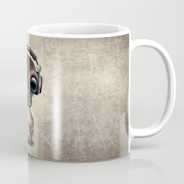Cute Baby Platypus Deejay Wearing Headphones Coffee Mug