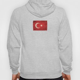 Old and Worn Distressed Vintage Flag of Turkey Hoody