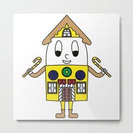 Gingerbread-House Egg Metal Print