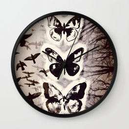 Butterfly Abstracted Wall Clock