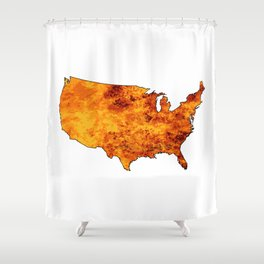 USA Fire Map Shower Curtain