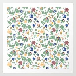 Scandinavian paisley Art Print