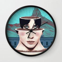 Matrioska Girl / Surrealism Wall Clock
