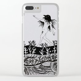 Crows' Dance Clear iPhone Case