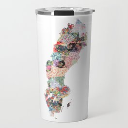 Sweden map Travel Mug