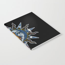 Celestial Mosaic Sun and Moon Notebook