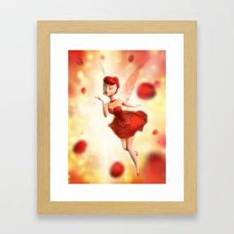 Rose Fairy Framed Art Print