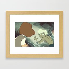 High Tide: Surprise! Framed Art Print