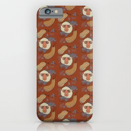 Macaques & Squash (rust) iPhone Case