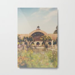 all the colours & curves of the botanical building in Balboa Park, San Diego Metal Print