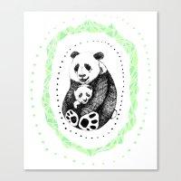 pandas Canvas Prints featuring PANDAS! by Sagara Hirsch