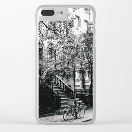 New York City - West Village Street and Bicycles Clear iPhone Case