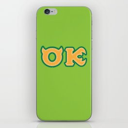 Monster University Fraternity : Oozma Kappa iPhone Skin