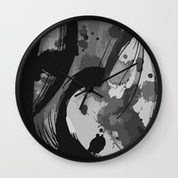 reassurance Wall Clocks featuring Ink III by Magdalena Hristova