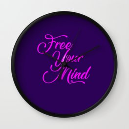 Free your mind and dream Wall Clock
