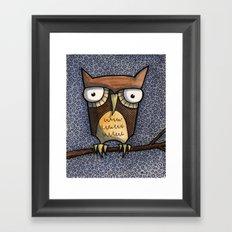 owl at night Framed Art Print