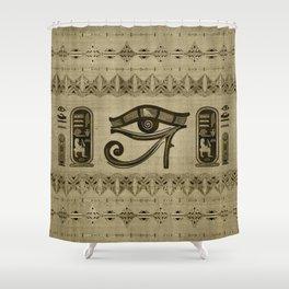 Egyptian Eye of Horus Ornament Shower Curtain