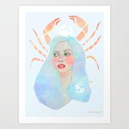 Cancer Queen Art Print