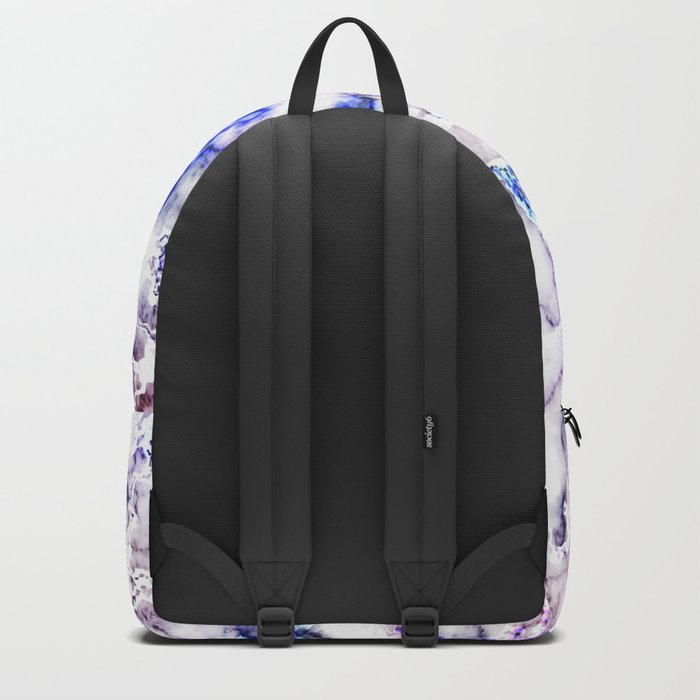 Blue and Pink Veined Marble Backpack