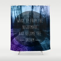 nightmare Shower Curtains featuring Nightmare by Sam Thorpe