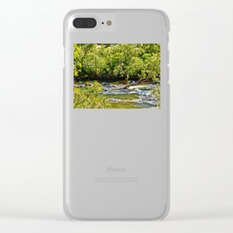 Beautiful river running over rocks Clear iPhone Case