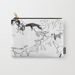Dogs say Hello Carry-All Pouch