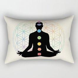 Sacred Geometry Flower of Life Chakra Meditation Rectangular Pillow